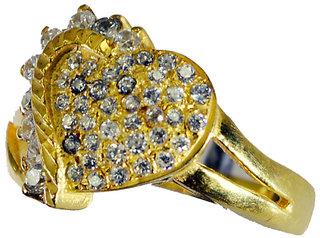 Riyo White Cz 18 Kt Gold Platings Bridal Rings Sz 8 Gprwhcz8-110028