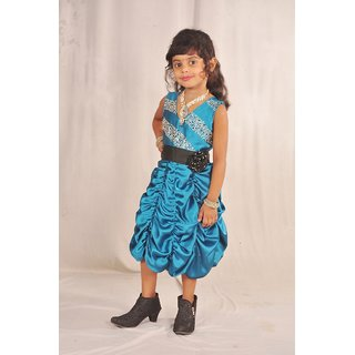 lecxy blue saturn midi frock(3-4 years)