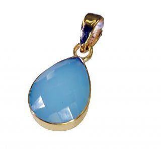 Riyo Blue Chalcedony Buy Gold Plated Jewelry Pendant L 1.5in Gppbch-8028