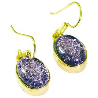Riyo Dichroic Glass Gold Plated Fashion Ear Thread L 1.2in Gpedgl-22004