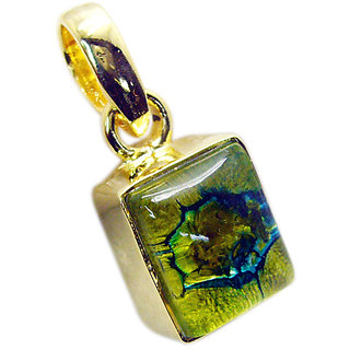 Riyo Dichroic Glass Jewelry Gold Plated Angel Pendant L 1.2in Gppdgl-22017