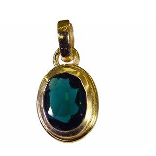 Riyo Emerald Cz  Gold Plated Band Pendant L 1.2in Gppemcz-96020