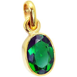 Riyo Emerald Cz Gold Plated Costume Intricate Pendant L 1.2in Gppemcz-96027