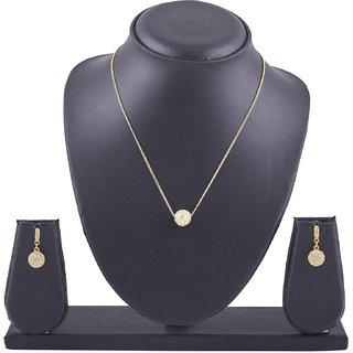 Shining Jewel 24K Golden Alloy Crystal Necklace Set (SJ2045)