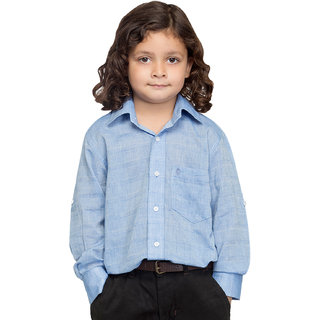 Oxolloxo Boys Cotton Blue Shirt