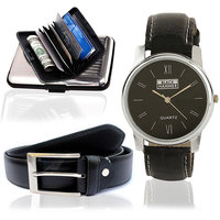 Buy Watch  Get Belt And Credit Card Holder