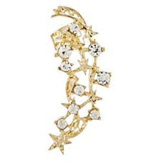 Shining Jewel Golden Crystal Earring Cuffs (SJ159)