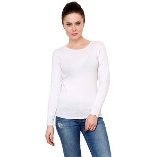0cb6ddd24cd Buy Renka White Color Knitted Pullover Sweater For Women Online ...