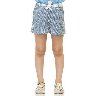 Oxolloxo Girls blue printed shorts