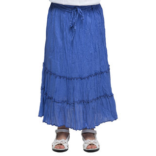 Oxolloxo Girls blue cotton skirt