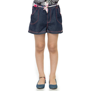 Oxolloxo Girls blue denim shorts
