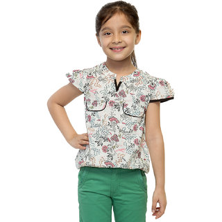 Oxolloxo Girls Cotton Floral Top