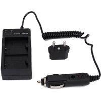 Dual Battery Wall Charger Car Charger + EU Adapter For SJCAM Camera SJ4000