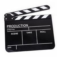 Clapper Board Slate For TV Film Movie - White And Black Stripe Black Board