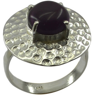 Riyo   Gemstone Alloy Silver Dainty Ring Aspr70-0009