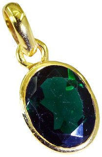 Riyo Green Emerald Cz 18 Kt Gold Fashion Stretch Pendants L 1in Gppemcz-96002