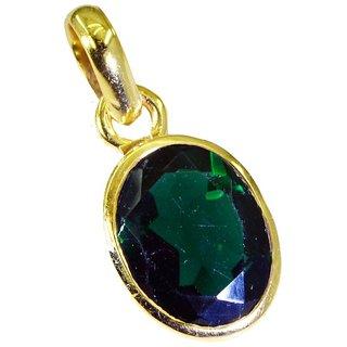 Riyo Green Emerald Cz 18 Kt Gold Fashion Stretch Pendants L 1in Gppemcz-96002