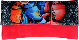 Ratash Pink Clutch digital print