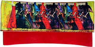 Ratash Red Clutch digital print