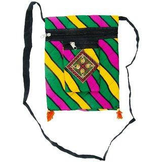 Ratash Multicolor Lahriya print sling Bag