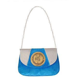 Ratash Blue Velvet Sling Bag