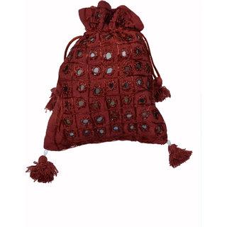 Ratash Maroon Ethnic Style Potli Bag