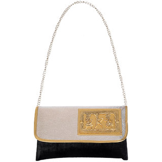 Ratash Black Velvet clutch