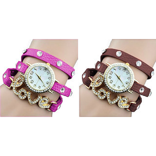 Caris Set of 2 Fashionable Ladies Watch