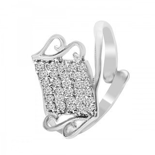 Jewelscart.In Silver Cz Ad Fashion Jewellery Ring For Woman And Girls