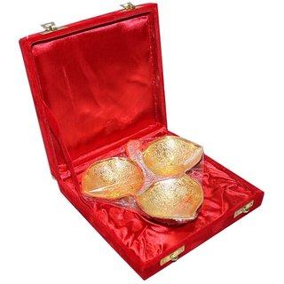 Decorifyme Bowl Dish Condiments Set Silver Gold Plated Engraved Handmade Set