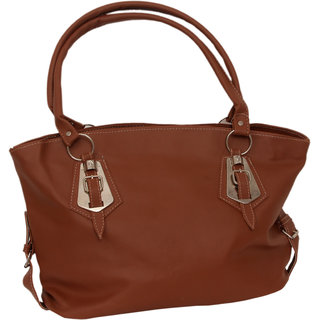 Trendy Smooth Leather Handbag By Greek Sojourn