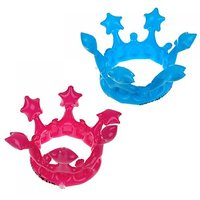 Hot Pink And Blue 7.7 Inch Inflatable Crowns Pool Toy Party Favours