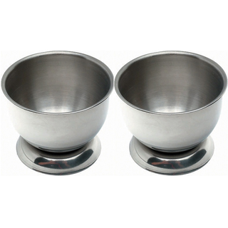 Set of 2 Delux Stainless Steel Egg Cups