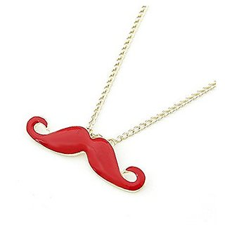 GirlZ! Lovely Fashion personality Sexy beard Necklace - Red