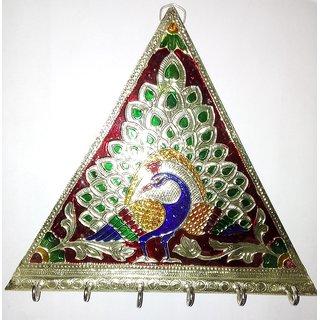 Royals Pride K111 Wooden Key Holder(3 Hooks, Multicolor)