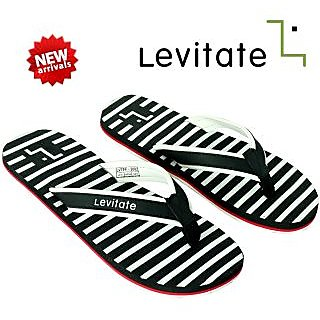 78482140951 Buy Levitate Men s Black and White Flip Flop Online   ₹249 from ...