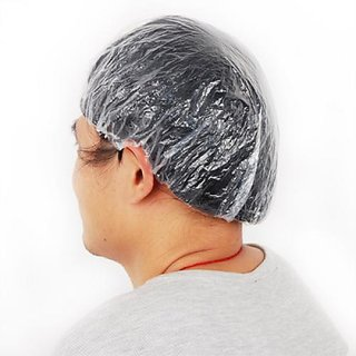 100Pcs Disposable Clear Shower Hair Caps for Spa Salon