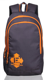 F Gear Castle Grey Orange 24 Liters Rugged base Backpack