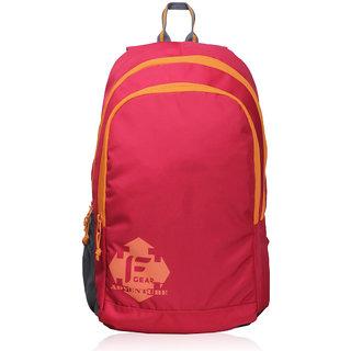 F Gear Castle Red orange Rugged base Backpack