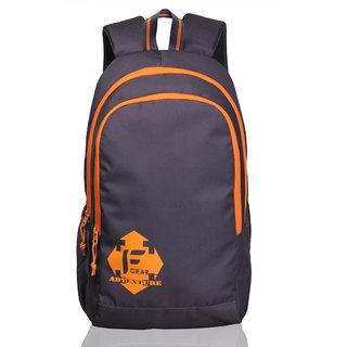 F Gear Castle Grey Orange 24 Liters Rugged base Backpack
