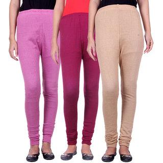 BelMarsh Woolen Lycra Legging - Pack of 3 (B-Pink Mouve Skin)