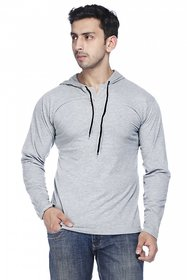 Demokrazy Men's Grey Round Neck T-Shirt