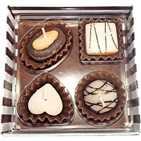 Zarsa Gift Pack Of Chocolate Candle(Multicolor, Pack Of