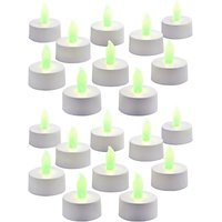 Zarsa LED Tea Light Candle(Green, Pack Of 20)
