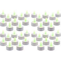 Zarsa LED Tea Light Candle(Green, Pack Of 40)