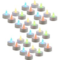 Zarsa LED Tea Light Candle(Multicolor, Pack Of 30)