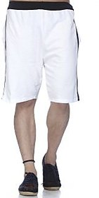Demokrazy Men's White Shorts