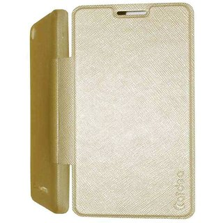 best website 76d3a 1a8e8 Mercator Flip Cover with Soft TPU Back for HTC Desire 326G (Gold)