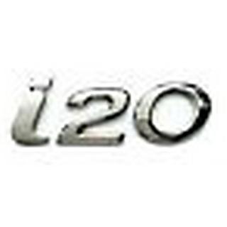 Buy Hyundai I20 Car Monogram Logo Emblem Chrome Emblem Monogram