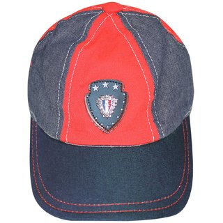 Wonderkids FS Patch Blue and Red Cap, 18-24  24-36 Months